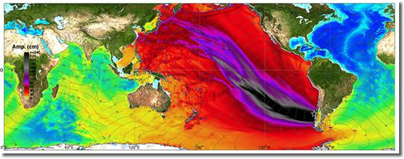 Graph of the Chilean tsunami