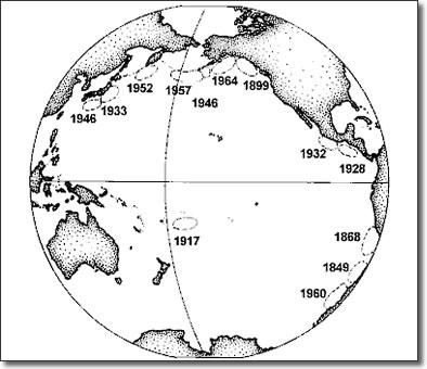 Destructive in tsunamis history
