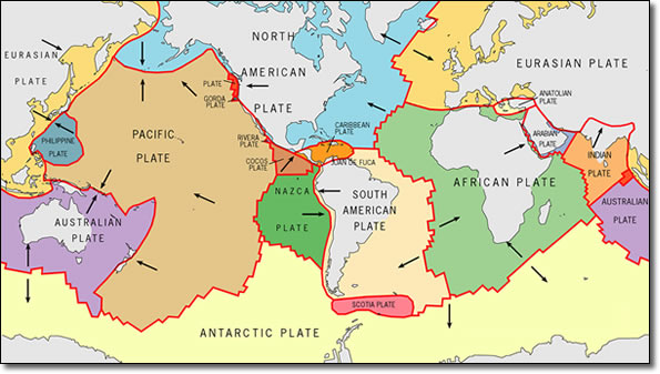 Earthquake tectonic plates boundaries oceanic plates and mantle tectonic plates gumiabroncs Image collections